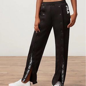 NWT Fila Alice Snap Front Jogger Pant w Branding